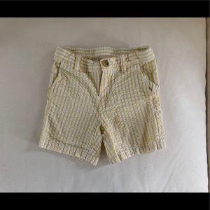 Janie and Jack yellow seersucker shorts